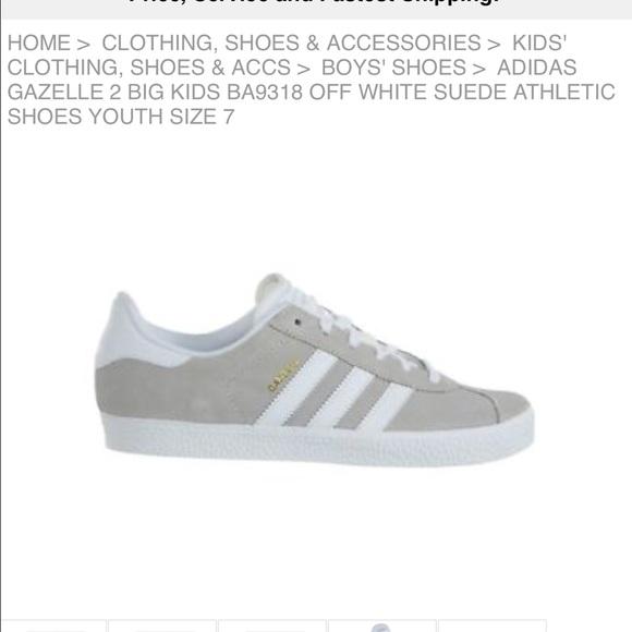 Adidas Gazelle Sneaker—Off White/Gray